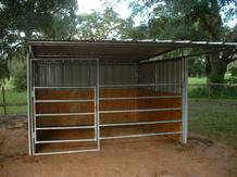 Loafing Sheds 12' x 12' with kick panels