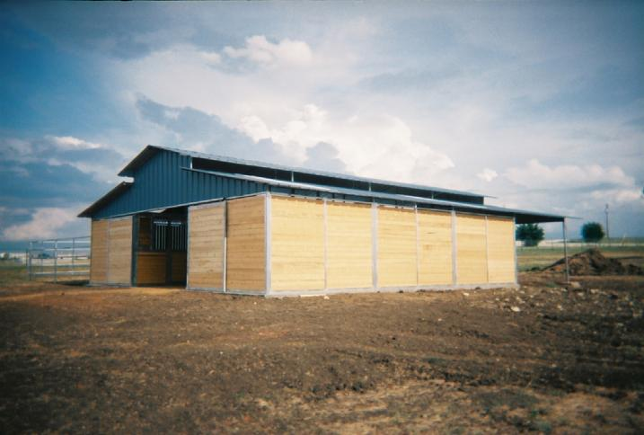 RCA TONGUE AND GROOVE BARN WITH PORCH