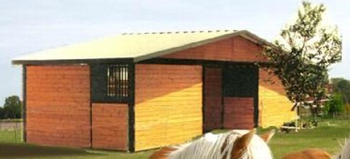 ECONO BARN 2 STALL BREEZEWAY CAN BE BUILT IN ANY NUMBER OF STALLS OR IN A SHEDROW STYLE BARN
