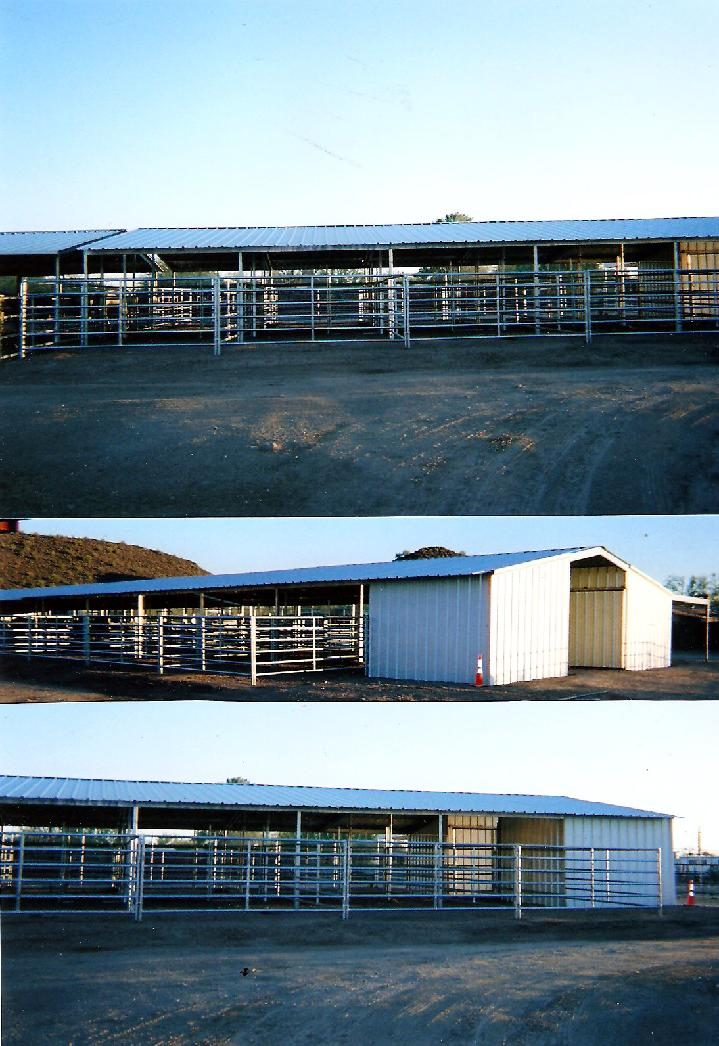 Open Air Barn/Mare Motel With Enclosed Feed and Tackrooms