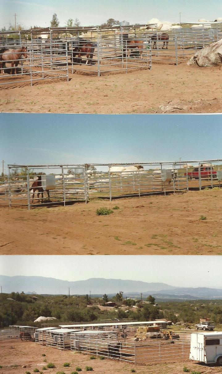 LONESTAR PORTABLE CORRALS AND SHADES IN ANY SIZE