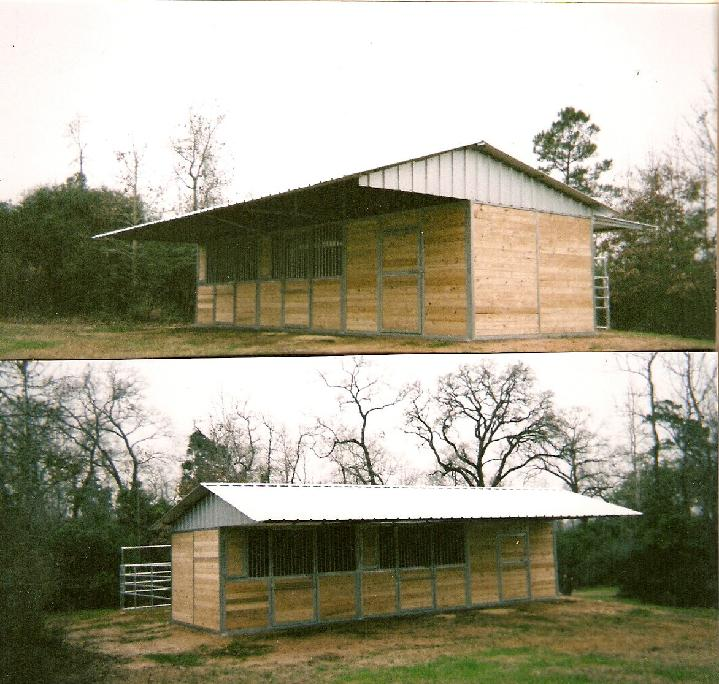 T&G Shedrow Barn with 8' Porch